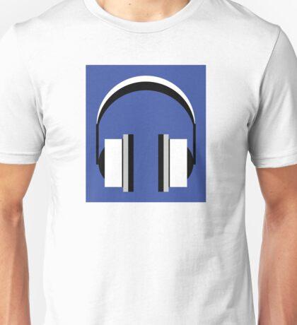 Headphones in dazzling blue Unisex T-Shirt