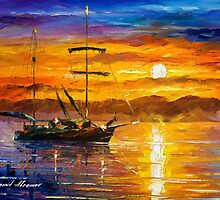Trusting The Sun — Buy Now Link - www.etsy.com/listing/209622389 by Leonid  Afremov