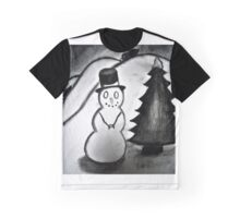 Snowman in a Winter Wonderland Graphic T-Shirt
