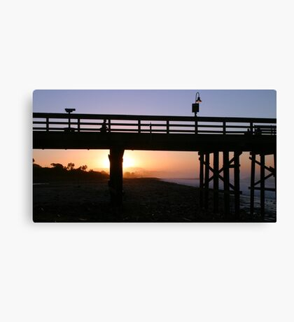 Sunrise Pier Ventura Canvas Print