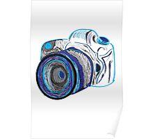 Neon Camera Poster