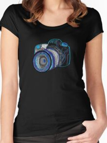 Neon Camera Women's Fitted Scoop T-Shirt