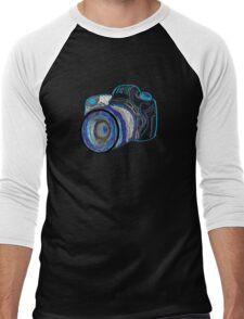 Neon Camera Men's Baseball ¾ T-Shirt