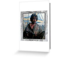 Jamie Fraser-Highland Warrior Greeting Card