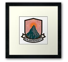 Rock Climbing Enlightenment Framed Print