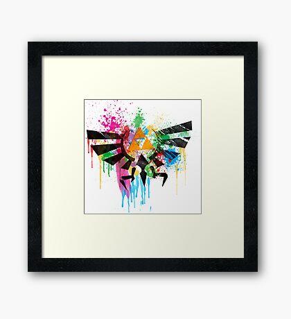 Hylian Paint Splatter Framed Print
