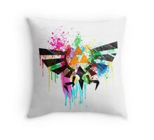 Hylian Paint Splatter Throw Pillow