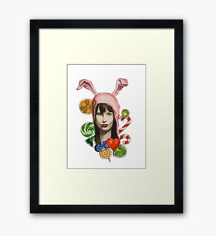sweet bunny Framed Print