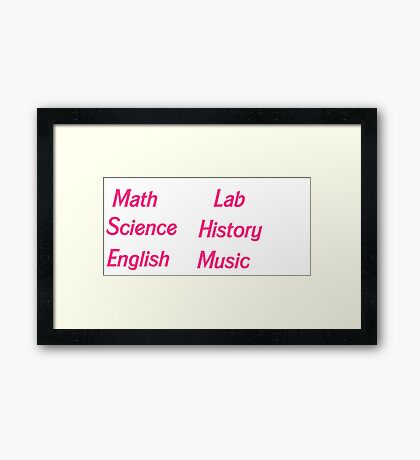 Subject Stickers 1 Framed Print