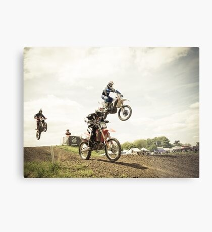 Motorcross Metal Print