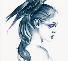 Raven Totem by Michelle Tracey