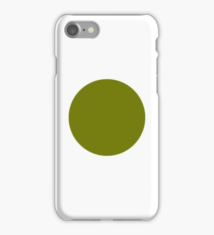 olive green circle iPhone Case/Skin