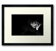 V is for......Visage Framed Print