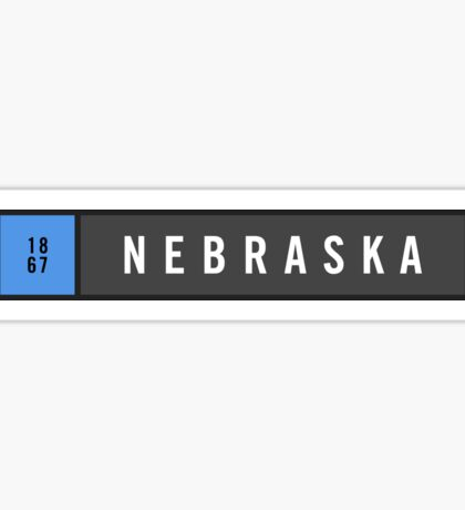 Nebraska - Minimalist Sticker