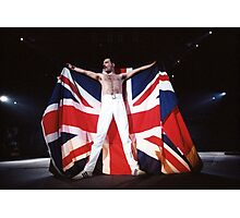 Freddie Mercury - Great Britain Flag  Photographic Print