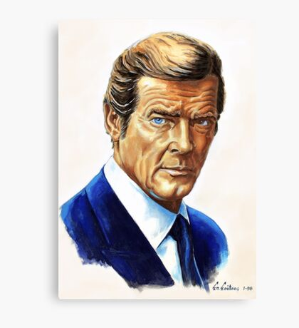 Roger Moore James Bond 007 Canvas Print