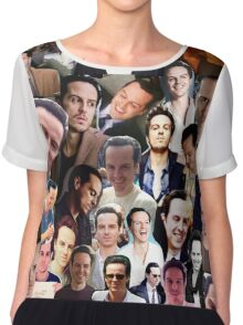 Andrew Scott Collage Chiffon Top
