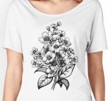 Cherry Blossom botanical Women's Relaxed Fit T-Shirt