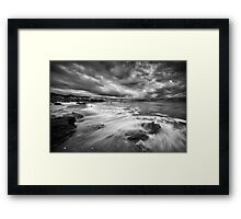 Eco Beach Stormclouds Framed Print
