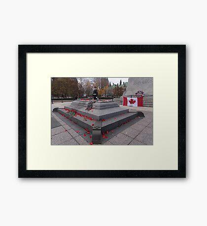 Canadian War Memorial in Ottawa, Canada Framed Print