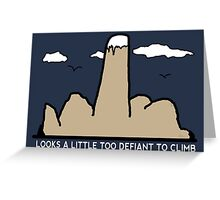 Funny Rock Climbing Cartoon Greeting Card