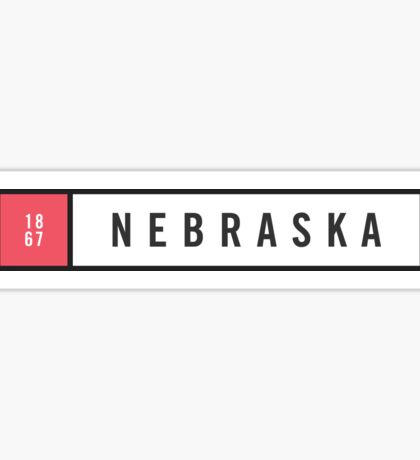 Nebraska - Minimalist #2 Sticker