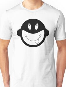 Black and white monkey tongue out pattern Unisex T-Shirt