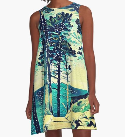 Abstract Shore A-Line Dress