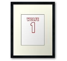 NFL Player Thomas Wolfe one 1 Framed Print