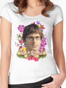 Louis Theroux Floral Women's Fitted Scoop T-Shirt