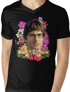 Louis Theroux Floral Mens V-Neck T-Shirt
