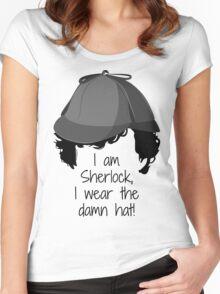 Sherlock Damn Hat Women's Fitted Scoop T-Shirt