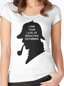 Sherlock I find your lack Women's Fitted Scoop T-Shirt
