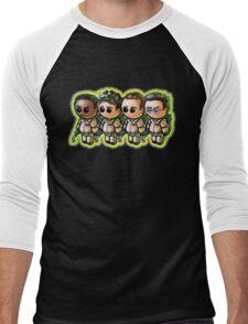 """WHO YOU GUNNA CALL?"" Pooterbellies Men's Baseball ¾ T-Shirt"