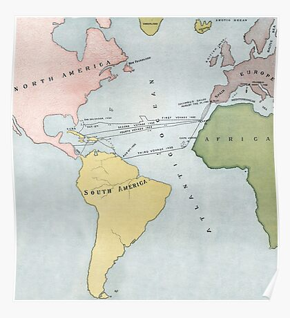 Voyages of Christopher Columbus, 1495-1502 Poster