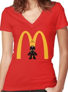 Mario The Founder Women's Fitted V-Neck T-Shirt