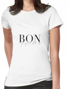 bon appetit, kitchen, food, typography,quotes Womens Fitted T-Shirt