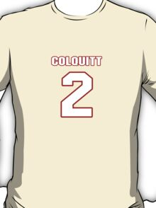 NFL Player Dustin Colquitt two 2 T-Shirt