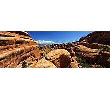 Through the Red Rock - Arches N.P, Utah, USA Photographic Print