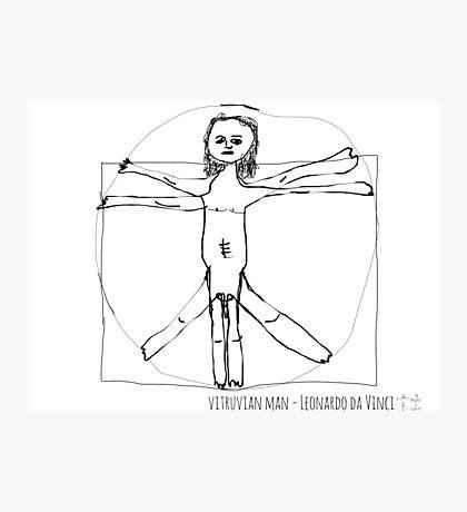 Vitruvian Man- Leonardo da Vinci Photographic Print