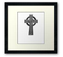 Celtic Religious Cross Christian Irish Framed Print