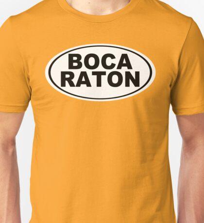 Boca Raton Florida Oval Design Unisex T-Shirt