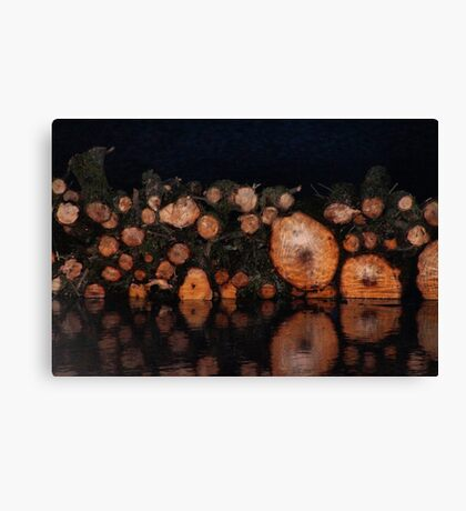 Tree Trunks on the Water Canvas Print