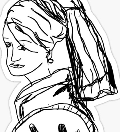 Girl with a pearl earring - Johannes Vermeer Sticker