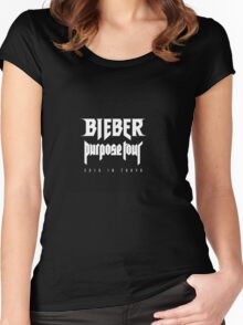 Justin bieber purpose tour Women's Fitted Scoop T-Shirt
