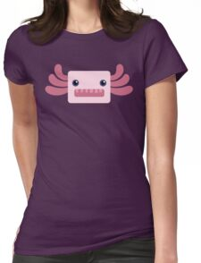 Cute and Pastel Pink Axolotl Womens Fitted T-Shirt