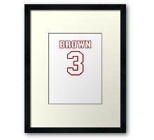 NFL Player Josh Brown three 3 Framed Print