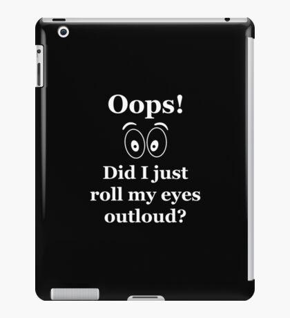 Oops! iPad Case/Skin