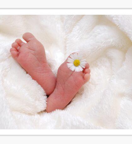 Baby Feet Flower Sticker