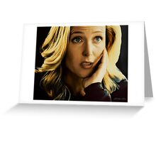 Stella Gibson in oil colors Greeting Card